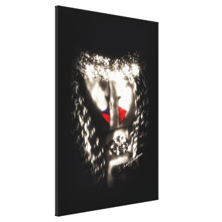Shhh Woman finger mouth Gallery Wrapped Canvas