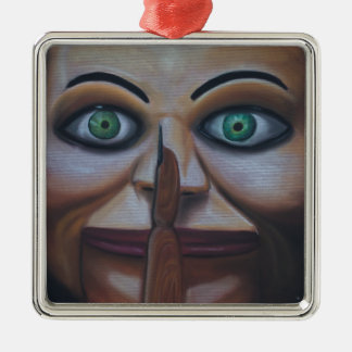 Shhhhh Metal Ornament