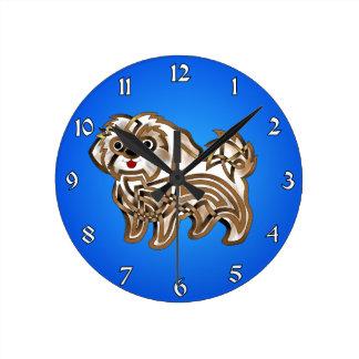 Shi-tzu Round Clock