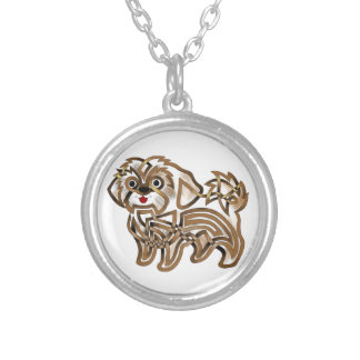 Shi-tzu Silver Plated Necklace