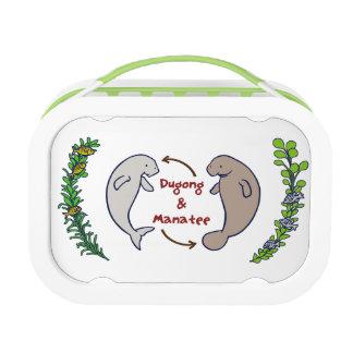 < shi ゙ yuko ゙ n and manatee (color) > Dugong & Lunch Box
