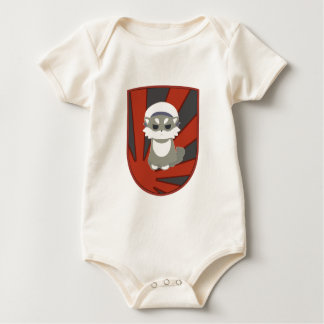 shiba crest baby bodysuit