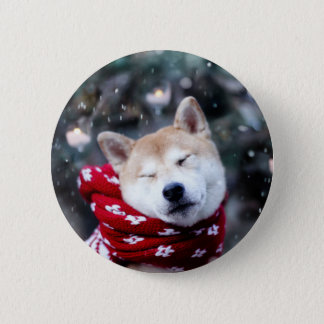Shiba dog - doge dog - merry christmas 2 inch round button