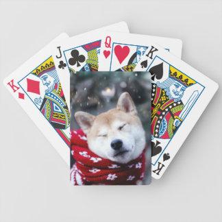 Shiba dog - doge dog - merry christmas bicycle playing cards