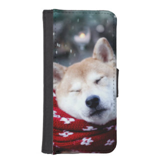 Shiba dog - doge dog - merry christmas iPhone SE/5/5s wallet case