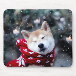 Shiba dog - doge dog - merry christmas mouse pad