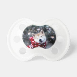 Shiba dog - doge dog - merry christmas pacifier