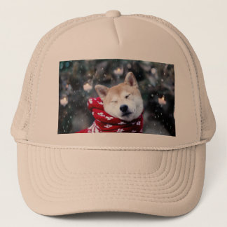 Shiba dog - doge dog - merry christmas trucker hat