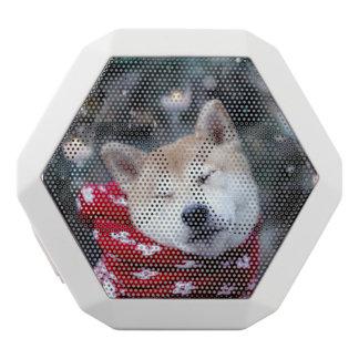 Shiba dog - doge dog - merry christmas white bluetooth speaker