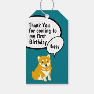 Shiba Dog Year 2018 Birthday Thank You Gift Tag