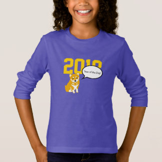 Shiba Dog Year 2018 Purple Girl Shirt