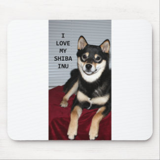 shiba full black and tan love w pic mouse pad