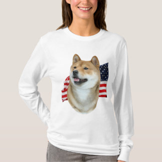 Shiba Inu and Flag t-shirt