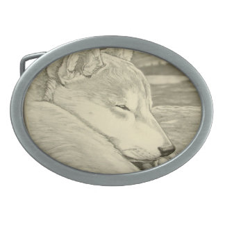 Shiba Inu  Belt Buckle Sleeping Dog Belt Buckle