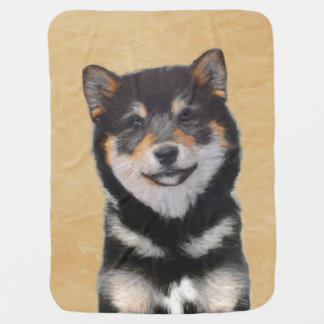Shiba Inu (Black and Tan) Baby Blankets