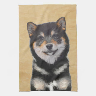 Shiba Inu (Black and Tan) Kitchen Towel