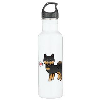 Shiba Inu Black And Tan Love 710 Ml Water Bottle