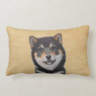 Shiba Inu (Black and Tan) Lumbar Pillow