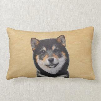 Shiba Inu (Black and Tan) Painting - Dog Art Lumbar Pillow