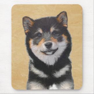 Shiba Inu (Black and Tan) Painting - Dog Art Mouse Pad