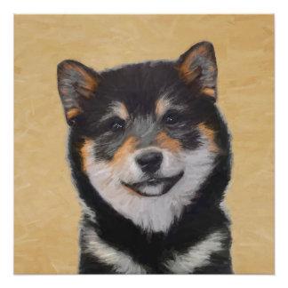 Shiba Inu (Black and Tan) Perfect Poster