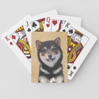 Shiba Inu (Black and Tan) Playing Cards