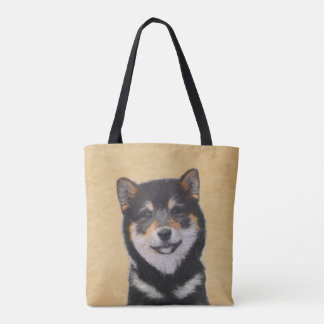 Shiba Inu (Black and Tan) Tote Bag