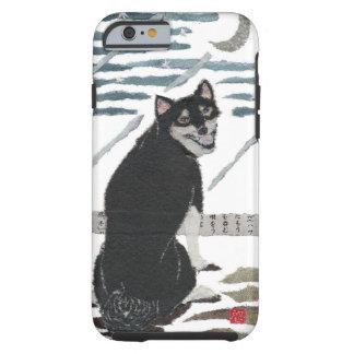 Shiba Inu, Black Shiba, Modern Japanese Tough iPhone 6 Case