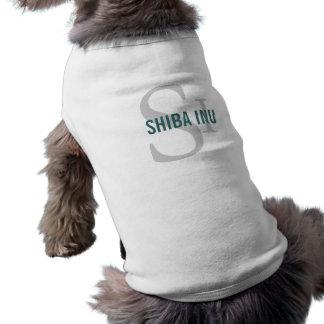 Shiba Inu Breed Monogram Design Doggie Tee Shirt
