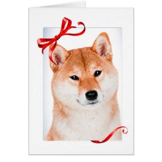 Shiba Inu Christmas Card