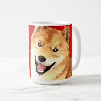 Shiba Inu Color Block Coffee Mug