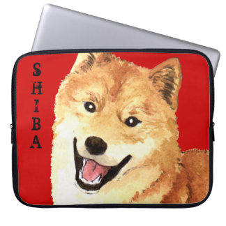 Shiba Inu Color Block Laptop Sleeve