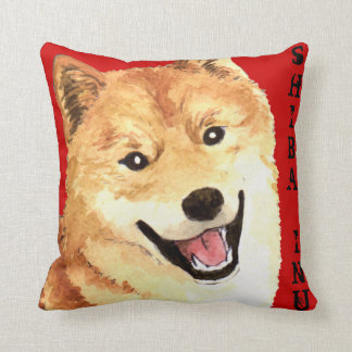 Shiba Inu Color Block Throw Pillow