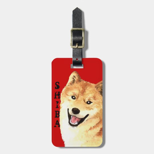 Shiba Inu Colour Block Luggage Tag