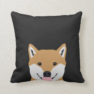 Shiba Inu - cute dog illustration for pet owners Pillow