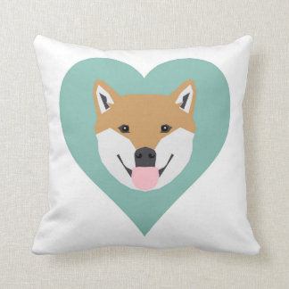 Shiba Inu cute heart pillow gift for dog lovers