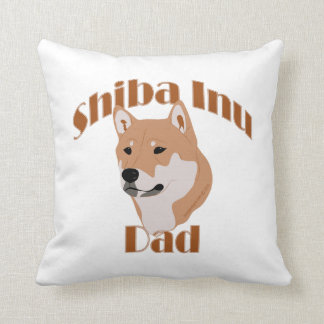 Shiba Inu Dad - custom background color home decor Throw Pillow