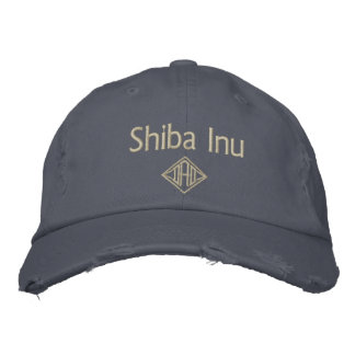 Shiba Inu Dad Gifts Embroidered Hat