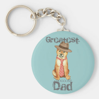 Shiba Inu Dad Keychain