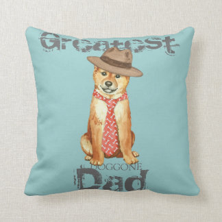 Shiba Inu Dad Throw Pillow