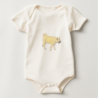 Shiba Inu Dog. Baby Bodysuit