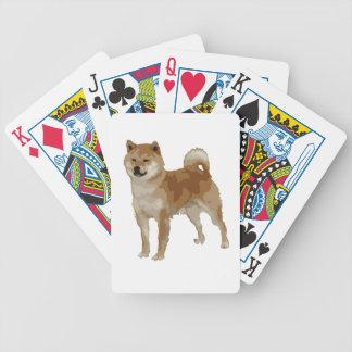 Shiba Inu Dog Bicycle Playing Cards