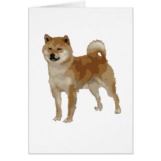 Shiba Inu Dog Card