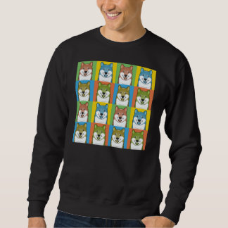 Shiba Inu Dog Cartoon Pop-Art Sweatshirt