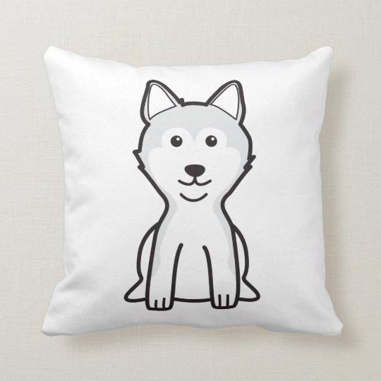 Shiba Inu Dog Cartoon Throw Pillow