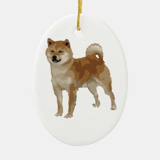 Shiba Inu Dog Ceramic Ornament