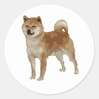 Shiba Inu Dog Classic Round Sticker