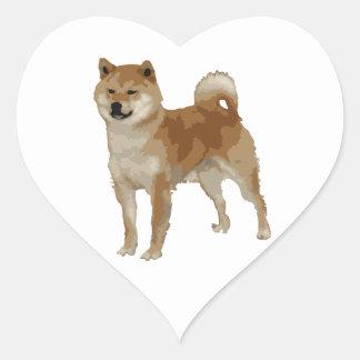 Shiba Inu Dog Heart Sticker
