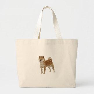 Shiba Inu Dog Large Tote Bag
