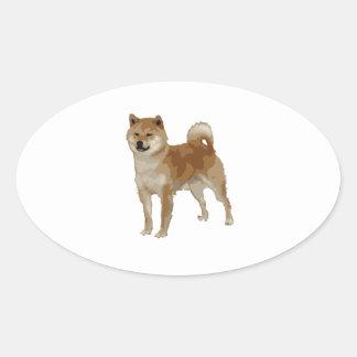 Shiba Inu Dog Oval Sticker